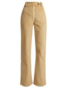 Straight Leg Cotton Corduroy Trousers by A.W.A.K.E. Mode