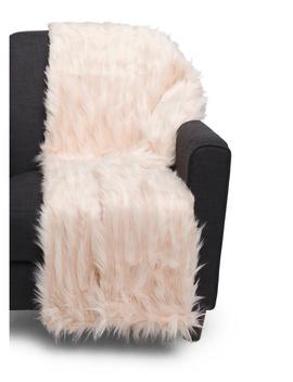 Indiana Faux Fur Throw by Tj Maxx