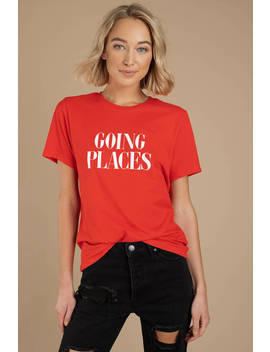 Ban.Do Going Places Red Tee by Tobi