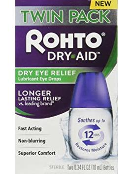 Rohto Dry Aid Eye Relief Lubricant Eye Drops, Twin Pack (0.34 Ounce Each) by Rohto