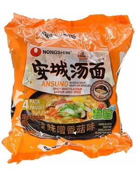 Nongshim Ns02321 S Ansung Tang Myun Spicy Miso Noodle Soup 4 Pack, 500 Gram by Amazon