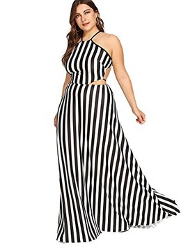 Floerns Women's Sexy Plus Size Maxi Dress Sleeveless Long Party Dress by Floerns