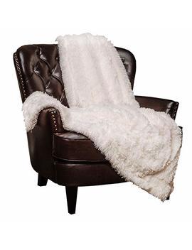 "Chanasya Super Soft Shaggy Longfur Throw Blanket | Snuggly Fuzzy Faux Fur Lightweight Warm Elegant Cozy Plush Sherpa Fleece Microfiber Blanket | For Couch Bed Chair Photo Props   60""X 70""   White by Chanasya"