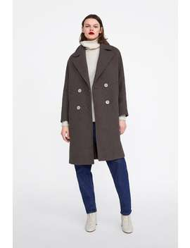 Patterned Fabric Coat  Coats Coats Woman New Collection by Zara