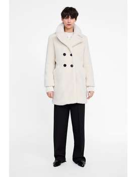 Fleece Coat  Coats Coats Woman New Collection by Zara