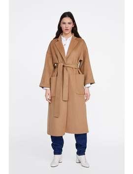 Belted Coat With Pockets  Coats Coats Woman New Collection by Zara