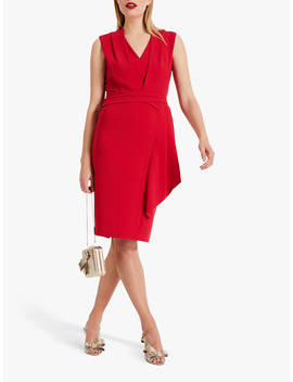Phase Eight Clarissa Drape Detail Dress, Raspberry by Phase Eight