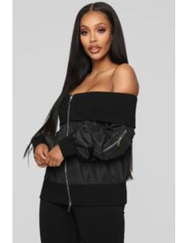 Flirtatious Bomber Jacket   Black by Fashion Nova
