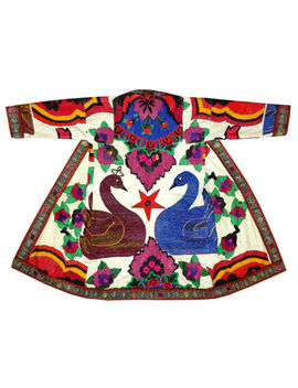Uzbek Traditional Bukhara Robe Jacket Coat Unisex Handmade Silk Embroider A11302 by Ebay Seller