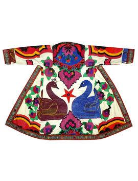 Uzbek Traditional Bukhara Robe Jacket Coat Unisex Handmade Silk Embroider A11302 by Ebay Seller
