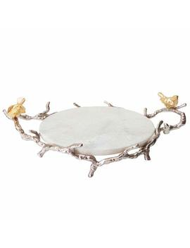 """A&B Home Alvada Decorative Marble Tray 17""""X10""""X6"""" by A&B Home"""