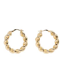 Gold Twisted Hoop Earrings by Jw Anderson