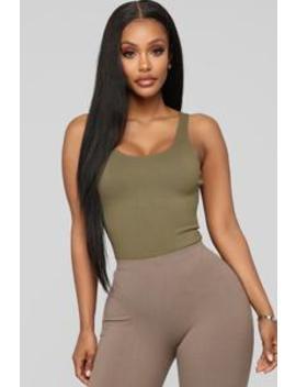 Tanya Bodysuit   Olive by Fashion Nova