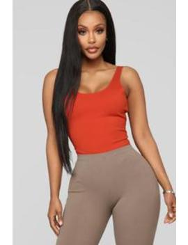 Tanya Bodysuit   Rust by Fashion Nova