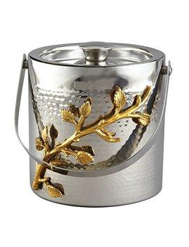 Elegance Golden Vine Ice Bucket, Silver/Gold by Elegance