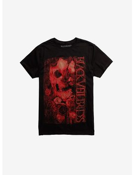 Black Veil Brides Skull & Roses T Shirt by Hot Topic