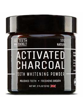 Activated Charcoal Natural Teeth Whitening Powder Peppermint Flavour By Pro Teeth Whitening Co® | Manufactured In The Uk (Peppermint) by Pro Teeth Whitening Co