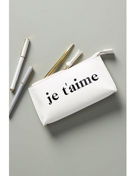 Je T'aime Pencil Pouch by Anthropologie