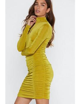 Ruche To Conclusions Bodycon Dress by Nasty Gal