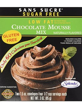Sans Sucre Chocolate Mousse Mix   Gluten Free by Sans Sucre