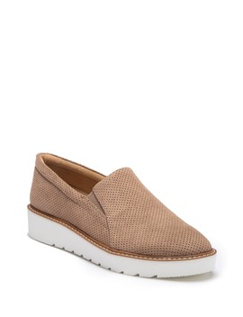 Effie Platform Perforated Slip On Sneaker   Wide Width Available by Naturalizer