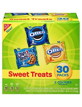 Nabisco Cookies Sweet Treats Variety Pack Cookies   With Oreo, Chips Ahoy, & Golden Oreo   30 Snack Packs by Nabisco