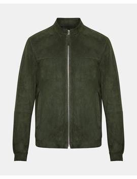 Suede Mock Neck Jacket by Theory