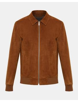 Suede Bomber Jacket by Theory