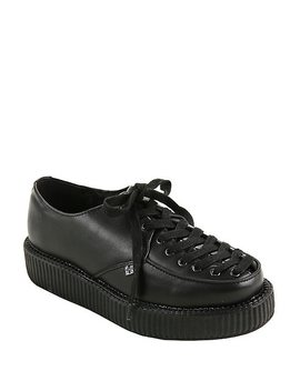 T.U.K. Black Leather Corset Creepers by Hot Topic
