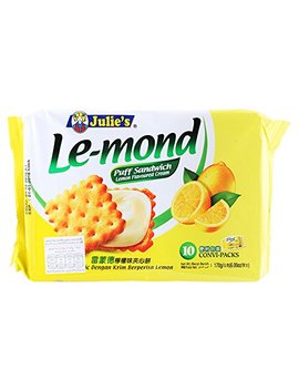 Julie's, Le Mond, Puff Sandwich, Lemon Flavour Cream, Net Weight 170 G (Pack Of 1 Piece) / Kk8 by Julie's