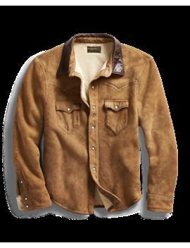 Shearling Western Shirt Jacket by Ralph Lauren