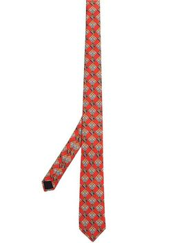 Modern Cut Check And Equestrian Knight Silk Tie by Burberry