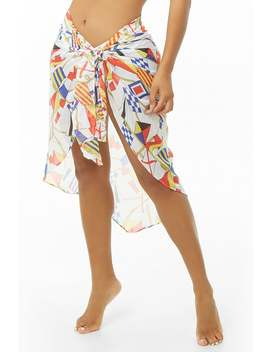 Printed Sarong Swim Cover Up by Forever 21