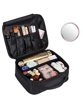 Dream Genius Portable Travel Makeup Bag Makeup Case Organizer With Large Capacity And Adjustable Dividers by Dream Genius