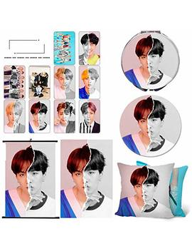 Quero Jom91 Bts Poster, Bts Makeup Mirror, Badge, Scroll Painting Or Bts Phone Ring, Bts Pillow Cover, 10 Bts Photocard Gift For Army by Quero Jom91