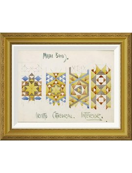 Global Gallery 'orvieto Cathedral, Mosaic Bands' By Charles Rennie Mackintosh Framed Wall Art by Global Gallery