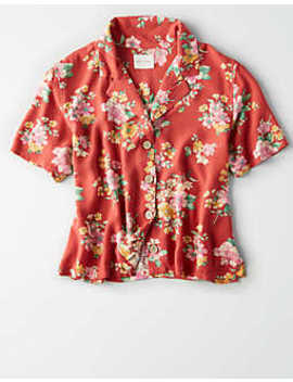 Ae Tropical Match Back Top by American Eagle Outfitters