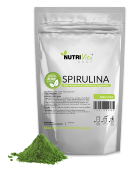 2.2 Lb (1000g) 100% Pure Spirulina Powder Organically Grown Non Gmo Non Irradiated by Nutri Vita Shop