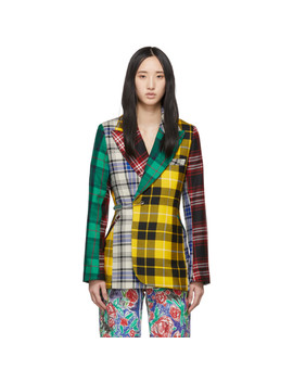 Multicolor Mixed Tartan Charles Blazer by Charles Jeffrey Loverboy