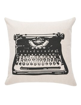 Williston Forge Dunbar Typewriter 100 Percents Cotton Throw Pillow & Reviews by Williston Forge