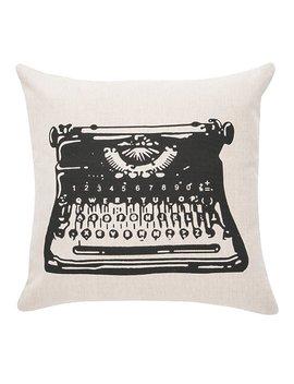 Williston Forge Dunbar Typewriter 100 Percents Cotton Throw Pillow & Reviews by Williston Forge