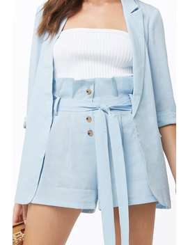 Blazer & Paperbag Short Set by Forever 21
