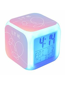 Bosunshine Bts Wake Up Alarm Clock, Digital Led Clock With 7 Color Change& 8 Ringtones With Temperature And Touch Control Sleep And Snooze Function For Bedrooms by Bosunshine