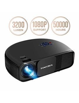 "Tangcison Home Projector, 3300 Lumens Led Video Projector With 150"" Projection Size, Multimedia Portable Projector Support 1080 P Hdmi Sd Usb Vga Av For Home Cinema Tv Game I Phone Andriod by Tangcison"