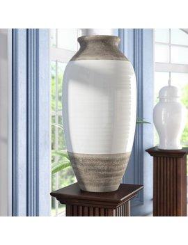 Alcott Hill Lemasters Modern Bud Ceramic Floor Vase by Alcott Hill