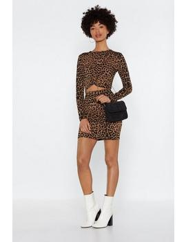 Such An Animal Leopard Top And Skirt Set by Nasty Gal