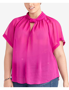 Plus Size Keyhole Top, Created For Macy's by Rachel Rachel Roy