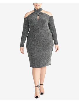 Plus Size Sparkle Knit Halter Dress by Rachel Rachel Roy
