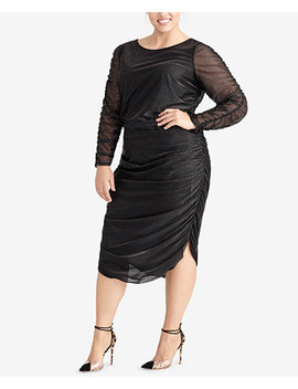 Plus Size Ruched Midi Sheath Dress by Rachel Rachel Roy