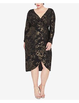 Plus Size Foil Print Wrap Dress by Rachel Rachel Roy
